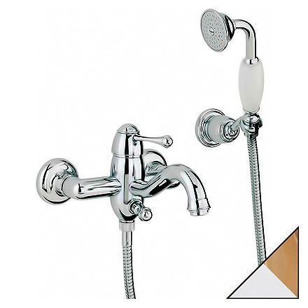 Смеситель Bandini Antico 855.120 CrOro для ванны с душем