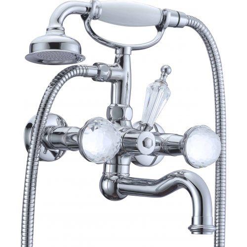 Смеситель Boheme Brillante Presente 353 для ванны с душем