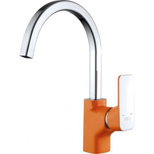 Смеситель D&K Berlin Kunste DA1432413 для кухонной мойки, оранжевый