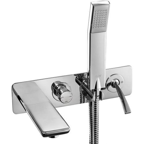 Смеситель E.C.A. Novita 102101130 С ВНУТРЕННЕЙ ЧАСТЬЮ, для ванны с душем