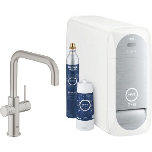 Смеситель Grohe Blue Home 31456DC0 с функцией фильтрации и газирования воды