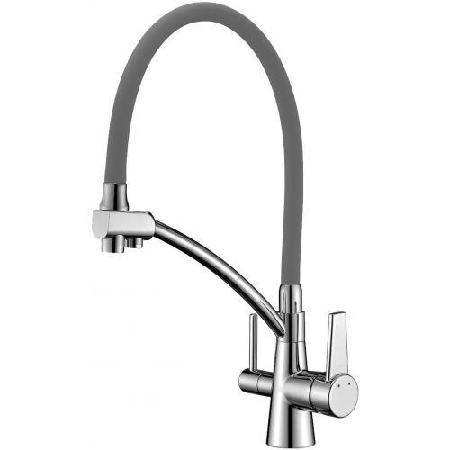 Смеситель Lemark Comfort LM3071C-Gray для кухонной мойки