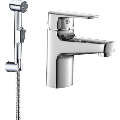 Смеситель SMARTsant Инлайн SM103511AA для раковины с гигиеническим душем