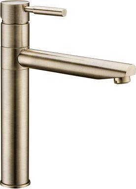 Смеситель Wasserkraft A8137 для кухонной мойки, светлая бронза