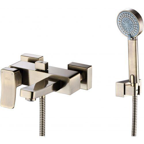 Смеситель Wasserkraft Exter 1601 для ванны с душем, светлая бронза