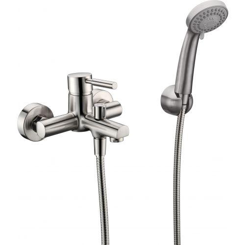 Смеситель Wasserkraft Wern 4201 для ванны с душем, матовый хром