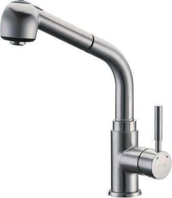 Смеситель Wasserkraft Wern 4266 для кухонной мойки, матовый хром