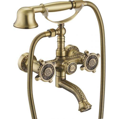 Смеситель Zorg Antic A 2001W-BR для ванны с душем