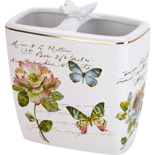 Стакан Avanti Butterfly Garden для зубных щеток