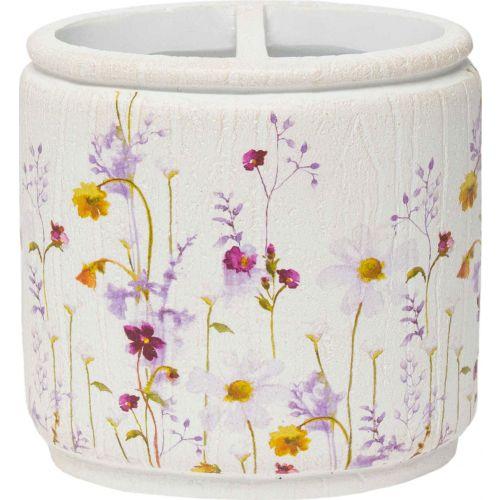 Стакан Croscill Pressed Flowers 6A0-002O0-9928/990 для зубных щёток, белый