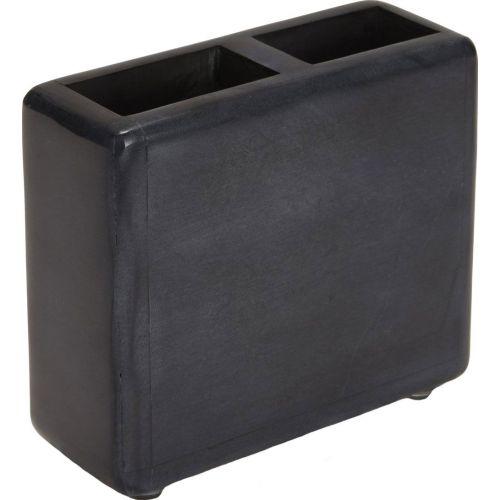 Стакан Kassatex Noir ANO-TBH-BK для зубных щёток, темно-серый