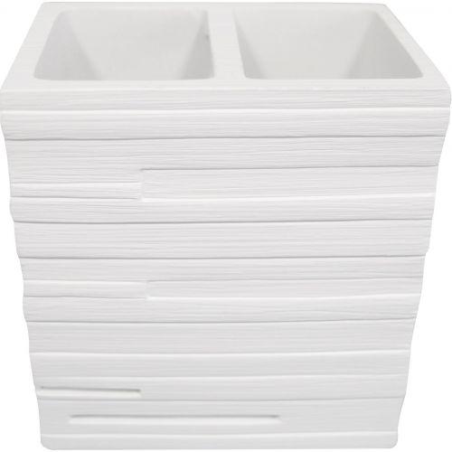 Стакан Ridder Brick 22150201 для зубных щеток, белый