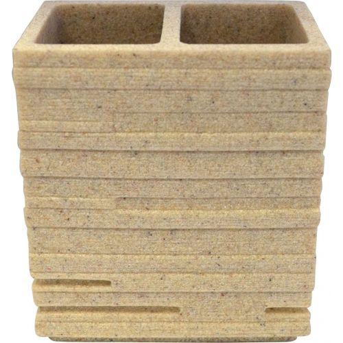 Стакан Ridder Brick 22150211 для зубных щеток, бежевый