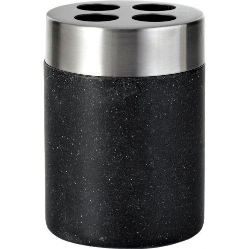 Стакан Ridder Stone 22010210 для зубных щеток, черный