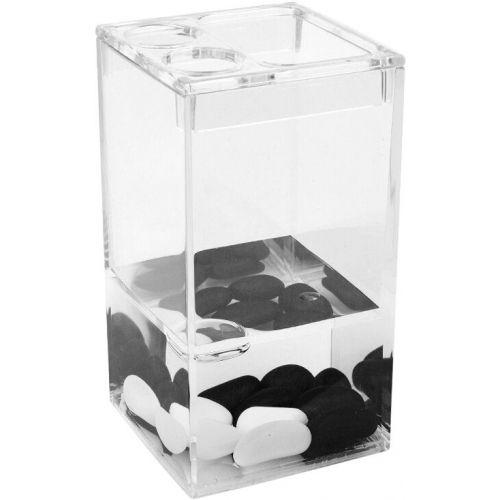 Стакан Verran Black and White 860-18 для зубных щеток