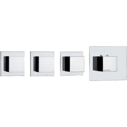 Термостат Bossini Cube 3 Outlets LP Z032205 для ванны с душем, хром