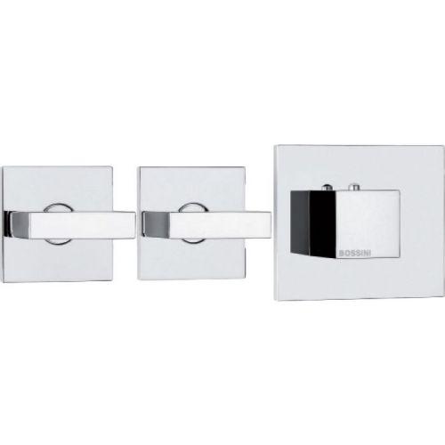 Термостат Bossini Rectangular 2 Outlets LP Z033203 для ванны с душем, хром