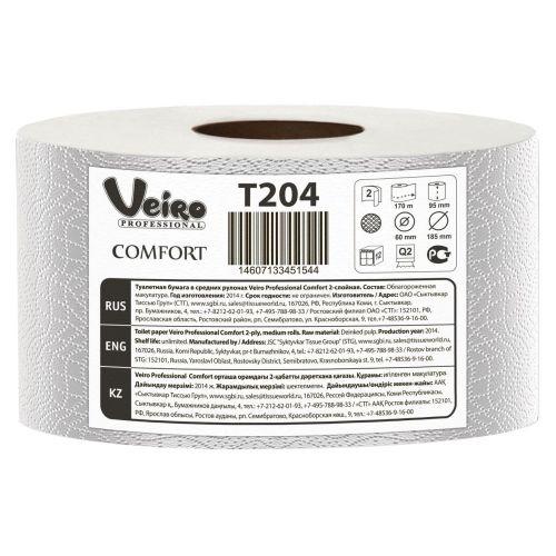 Туалетная бумага Veiro Professional Comfort T204 (Блок: 12 рулонов)