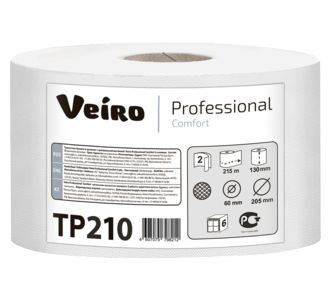 Туалетная бумага Veiro Professional Comfort ТР210 (Блок: 6 рулонов)