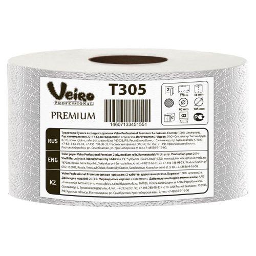 Туалетная бумага Veiro Professional Premium T305 (Блок: 12 рулонов)