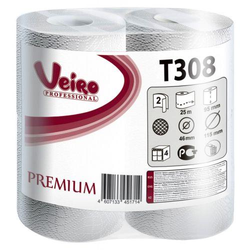 Туалетная бумага Veiro Professional Premium T308 (Блок: 6 уп. по 8 шт.)