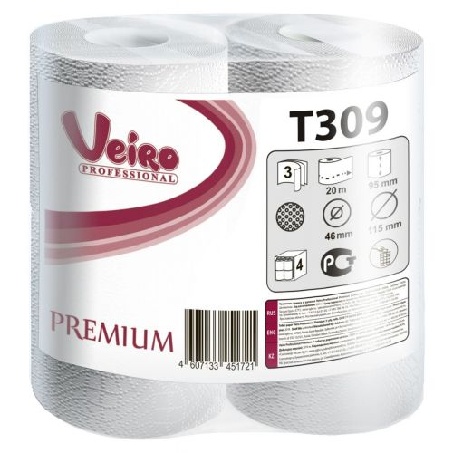 Туалетная бумага Veiro Professional Premium T309 (Блок: 6 уп. по 8 шт.)