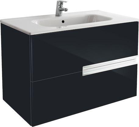 Тумба для комплекта Roca Victoria Nord Black Edition 80 черная