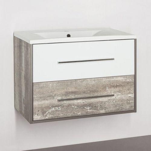 Тумба для комплекта Style Line Экзотик 80 Plus подвесная, белая, экзотик
