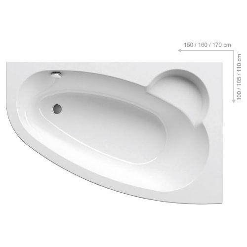 Акриловая ванна Ravak Asymmetric 170 R