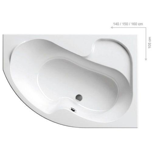 Акриловая ванна Ravak Rosa I R 140 см