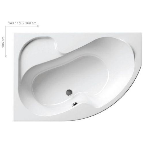 Акриловая ванна Ravak Rosa I L 150 см
