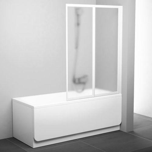 Шторка на ванну Ravak VS2 105 Transparent, профиль белый