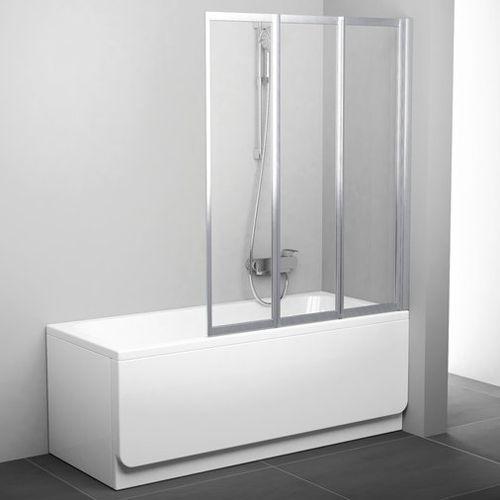 Шторка на ванну Ravak VS3 100 Transparent, профиль белый