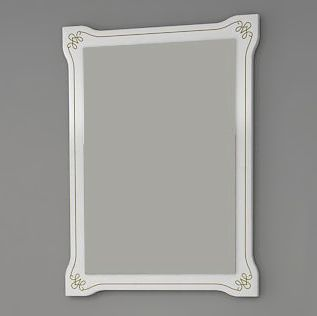 Зеркало ASB-Mebel Парма 60 белое патина золото