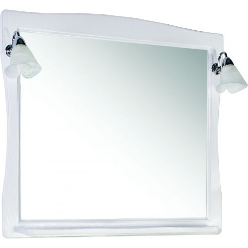 Зеркало ASB-Woodline Модена 85 белое, патина серебро
