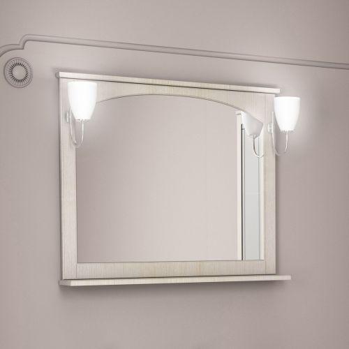 Зеркало Dreja.eco Antia 90 с полочкой, капучино