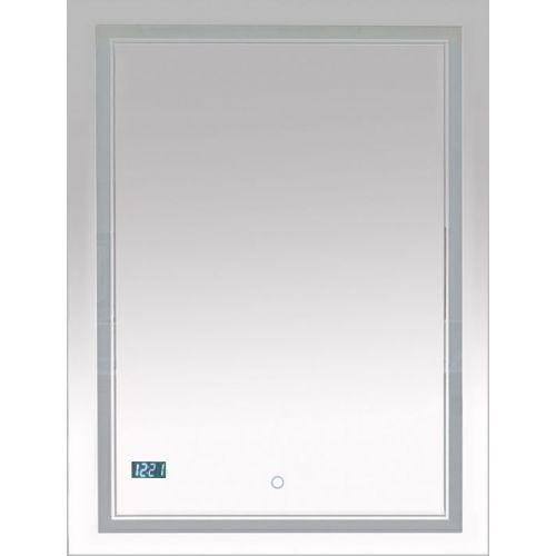 Зеркало Misty Неон 2 LED 60x80, с часами, сенсор на зеркале