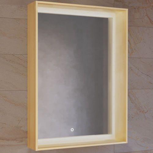 Зеркало Raval Frame 60 дуб сонома, с подсветкой