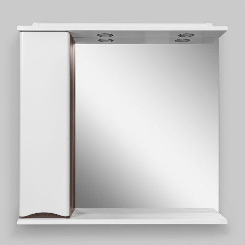 Зеркало-шкаф Am.Pm Like 80 L, белый глянец, венге