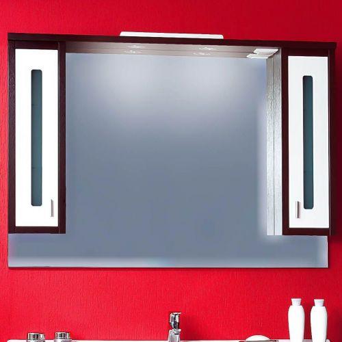 Зеркало-шкаф Бриклаер Бали 120 венге, белый глянец