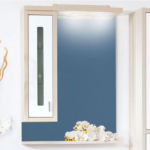 Зеркало-шкаф Бриклаер Бали 62 светлая лиственница, белый глянец, L