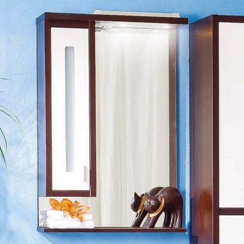 Зеркало-шкаф Бриклаер Бали 62 венге, белый глянец, L