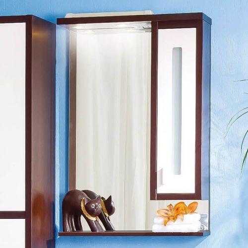 Зеркало-шкаф Бриклаер Бали 62 венге, белый глянец, R