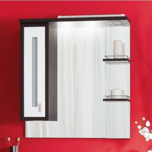 Зеркало-шкаф Бриклаер Бали 75 венге, белый глянец, L