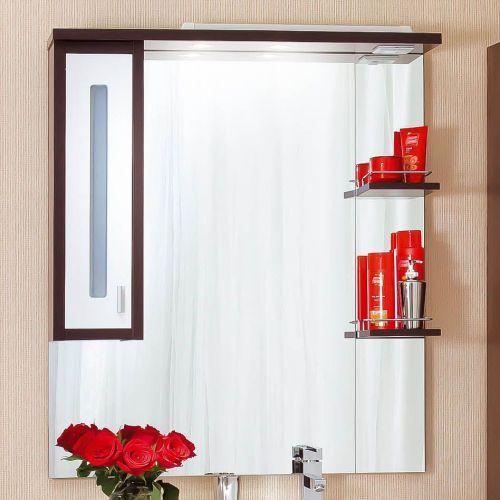 Зеркало-шкаф Бриклаер Бали 90 венге, белый глянец, L
