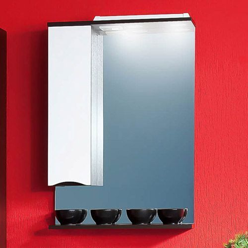 Зеркало-шкаф Бриклаер Токио 60 L венге, белый глянец