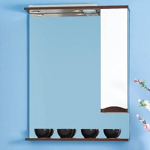 Зеркало-шкаф Бриклаер Токио 70 R венге, белый глянец