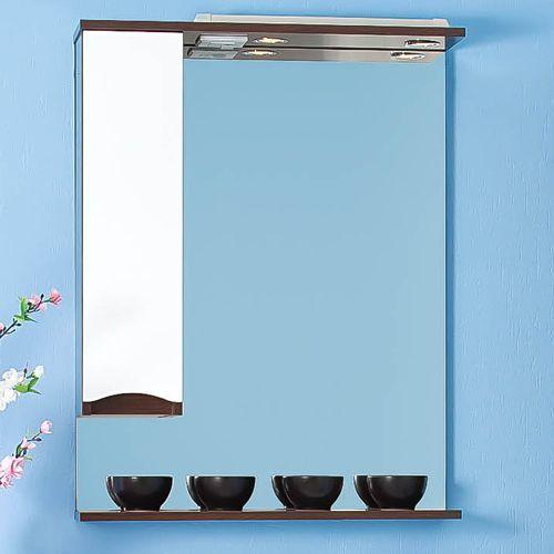 Зеркало-шкаф Бриклаер Токио 80 L венге, белый глянец