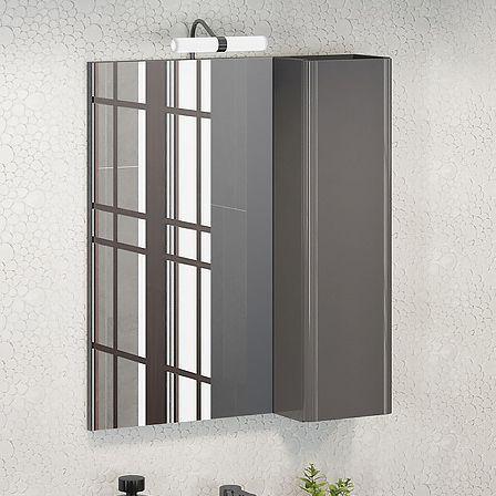 Зеркало-шкаф Comforty Рим 60 серое
