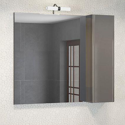 Зеркало-шкаф Comforty Рим 80 серое
